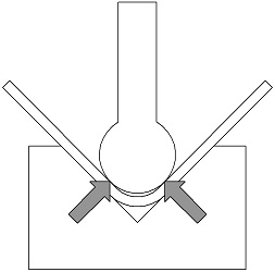 Coining Sheet Metal With A Large Radius