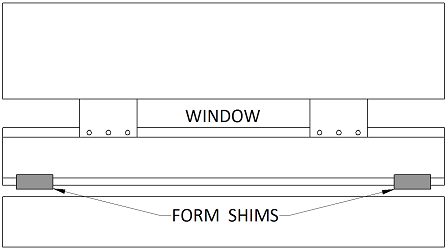 Using A Form Shim To Compensate For Crowning On A Window Bend