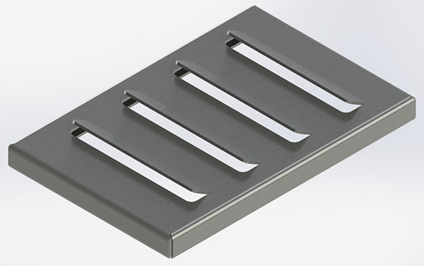 Louvers Formed on a Press Brake