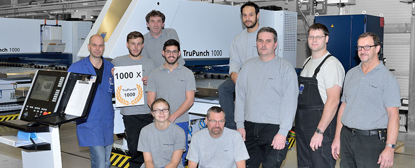 Trumpf Produces 1,000th TruPunch 1000